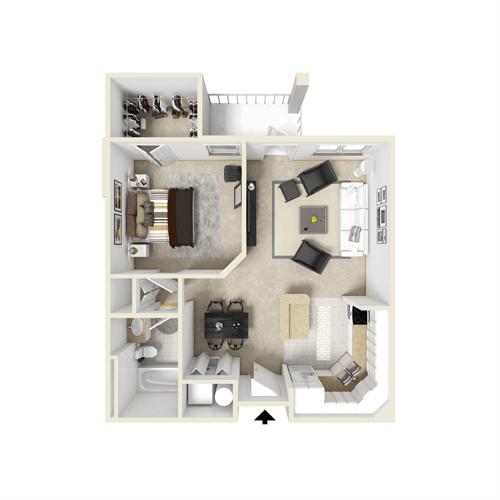 City View Apartments Floor Plan - Concord