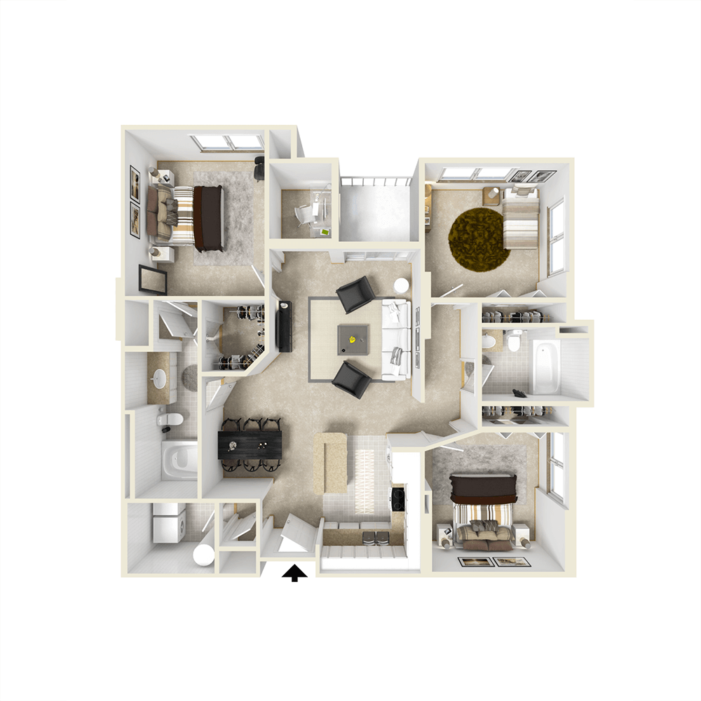 City View Apartments Floor Plan - Eola