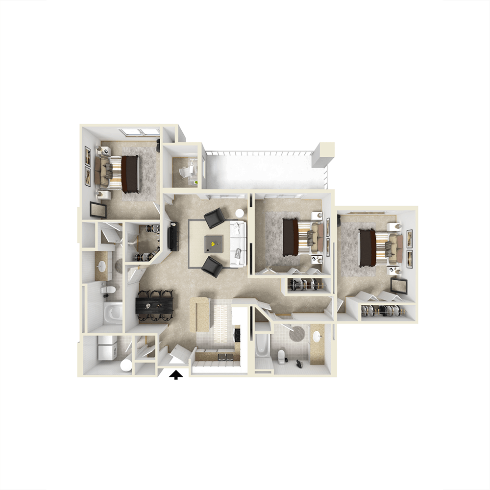 City View Apartments Floor Plan - Ivanhoe