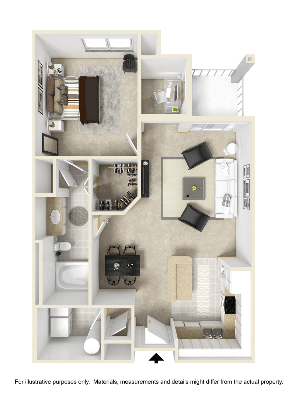 One Bedroom Home Plans