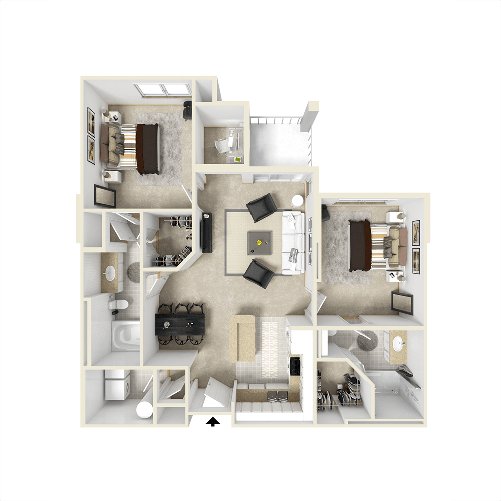 City View Apartments Floor Plan - Lancaster