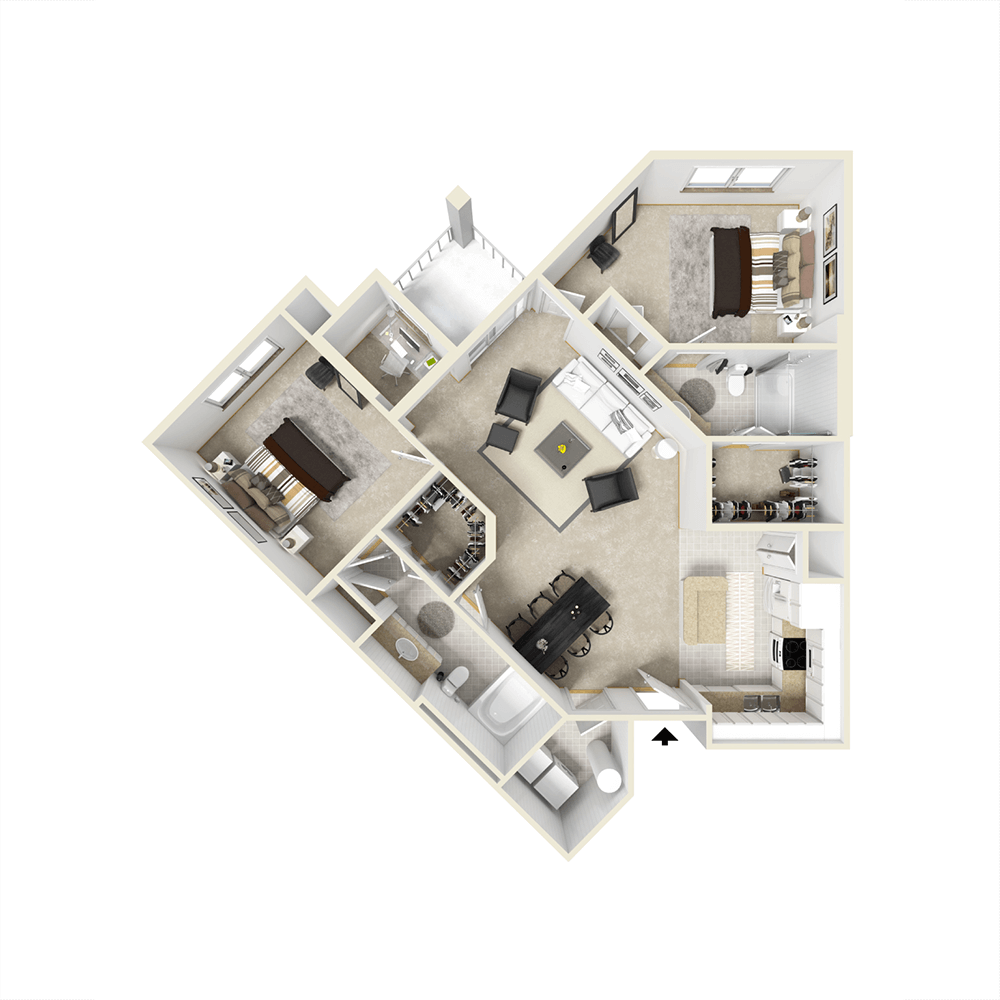 City View Apartments Floor Plan - Lorna