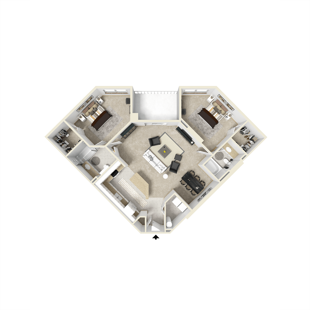 City View Apartments Floor Plan - Lucerne